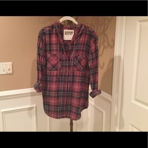 Garage Hooded Flannel - Small